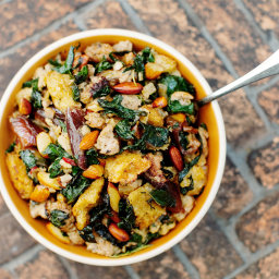 Sourdough Stuffing With Kale and Dates