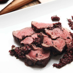 Sous Vide Leg of Lamb With Black Olives Recipe