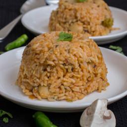 South Indian Style Mushroom Biriyani