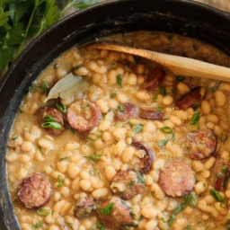 South Louisiana-Style White Beans & Rice