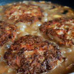 Southern Hamburger Steaks with Onion Mushroom Gravy!
