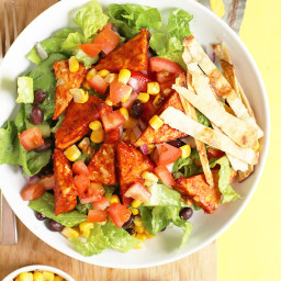 Southwest BBQ Tempeh Salad with Vegan Ranch