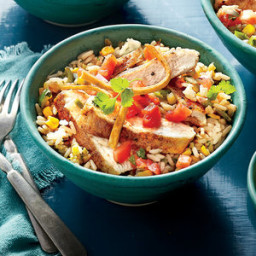 Southwest Chicken Cutlet Rice Bowl