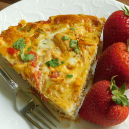 Southwest chicken frittata