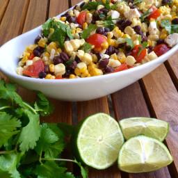 Southwest Corn Salad with Honey Lime Vinagrette
