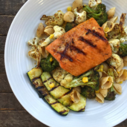 Southwest Grilled Salmon Pasta Salad