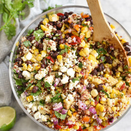 Southwest Quinoa and Grilled Corn Salad