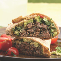 Southwestern Beef and Bean Burger Wraps