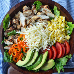 Southwestern Chicken Chopped Salad with Cilantro Lime Ranch