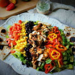 Southwestern Chicken Cobb Salad with Cilantro Lime Dressing
