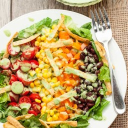 Southwestern Chopped Salad with Creamy Cilantro Lime Dressing