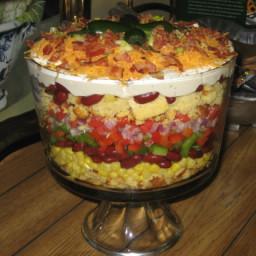 Southwestern Cornbread Layered Salad