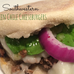 Southwestern Green Chile Cheeseburgers