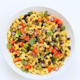 Southwestern Pasta Salad with Black Bean Dressing