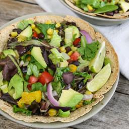 Southwestern-Style Salad in Tortilla Bowls