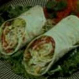 Southwestern Turkey Queso Wrap