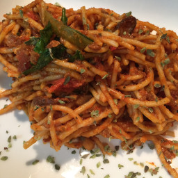 Soy Chorizo Spaghetti