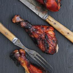 Soy-Maple Glazed Chicken Legs
