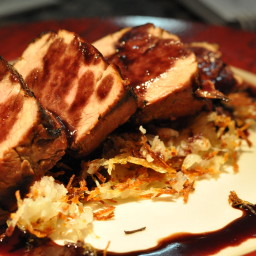 Soy Marinated Pork Tenderloin with Rosemary Potato Frites