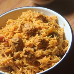 Soya Chunks Coconut Milk Biryani Recipe
