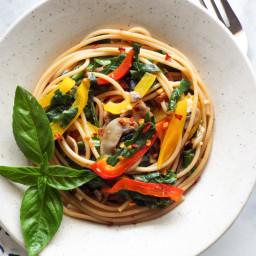 Spaghetti Aglio Olio with Vegetables