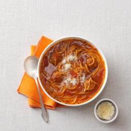 Spaghetti and Meatball Soup Recipe