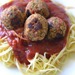 Spaghetti and Vegan Meatballs