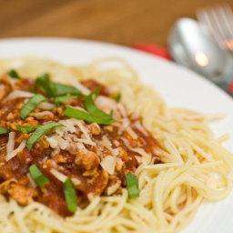 Spaghetti Bolognese alla Poulet