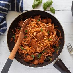 Spaghetti Sausage Puttanesca Recipe