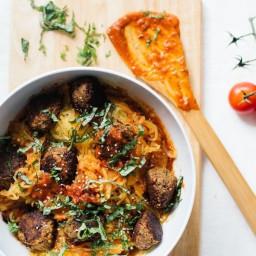 Spaghetti Squash and Chickpea Meatballs