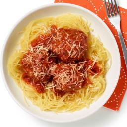 Spaghetti Squash and Meatballs
