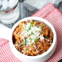 Spaghetti Squash Bolognese - Gluten Free