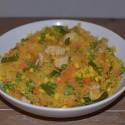 :: Spaghetti Squash Chow Mein ::