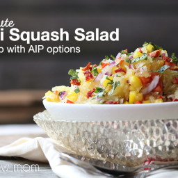 Spaghetti Squash Salad - low carb and paleo, with AIP options