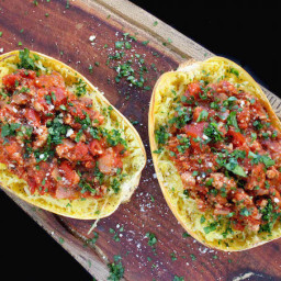Spaghetti Squash with Healthy Meat Sauce