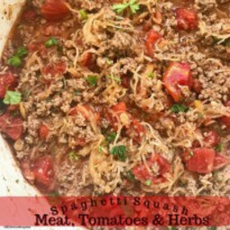 Spaghetti Squash with Meat, Tomatoes and Herbs