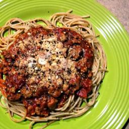 Spaghetti w/Sweet Italian Turkey Sausage