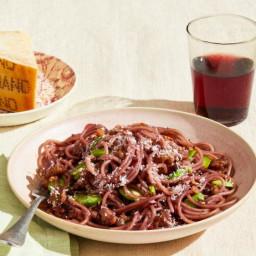 Spaghetti with Chianti and Fava Beans