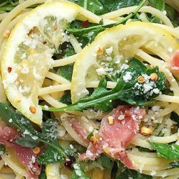 Spaghetti with Lemon, Arugula, and Prosciutto