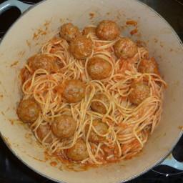 Spaghetti with Meatball Sauce