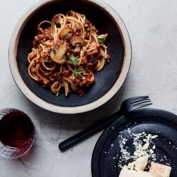 Spaghetti with Mushroom Bolognese