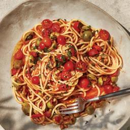 Spaghetti with No-Cook Puttanesca