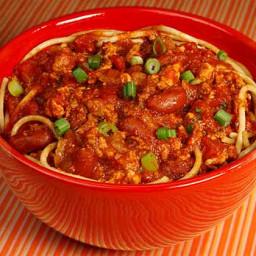 Spaghetti with Turkey Chili