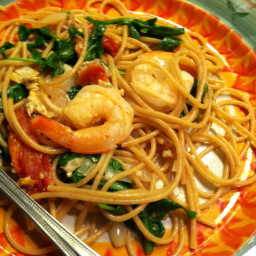 Spaghetti with White Wine and Seafood