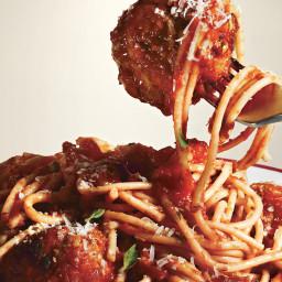 Spaghetti and Meatballs All'Amatriciana