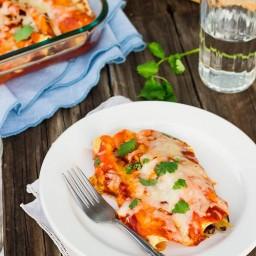 Spaghetti Squash & Black Bean Enchiladas