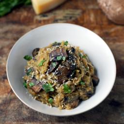 Spaghetti Squash With Mushrooms And Parmesan