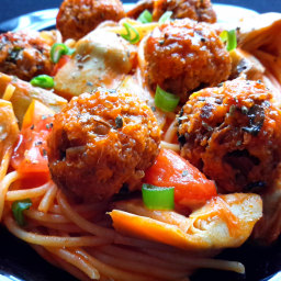 Spaghetti with Quinoa Meatballs