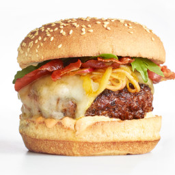 Spanish Burger with Pickled Shallots