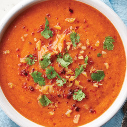Spanish Chickpea & Red Bell Pepper Soup